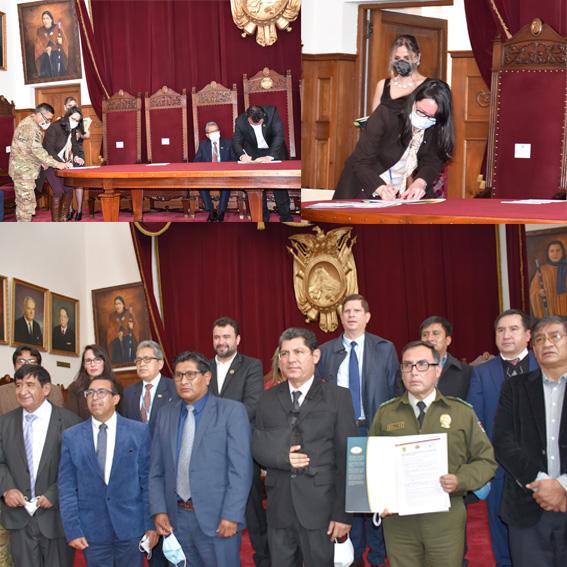 ESCUELA DE JUECES DEL ESTADO Y TRIBUNAL SUPREMO DE JUSTICIA SUSCRIBIERON CONVENIOS DE COOPERACIÓN INTERINSTITUCIONAL CON NUEVE UNIVERSIDADES DEL SISTEMA BOLIVIANO